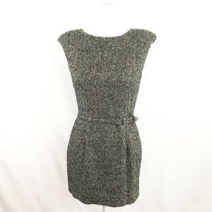 Jennifer Lopez Gray Sleeveless Tweed Dress